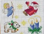 Маленькие схемы вышивки крестом к Новому году