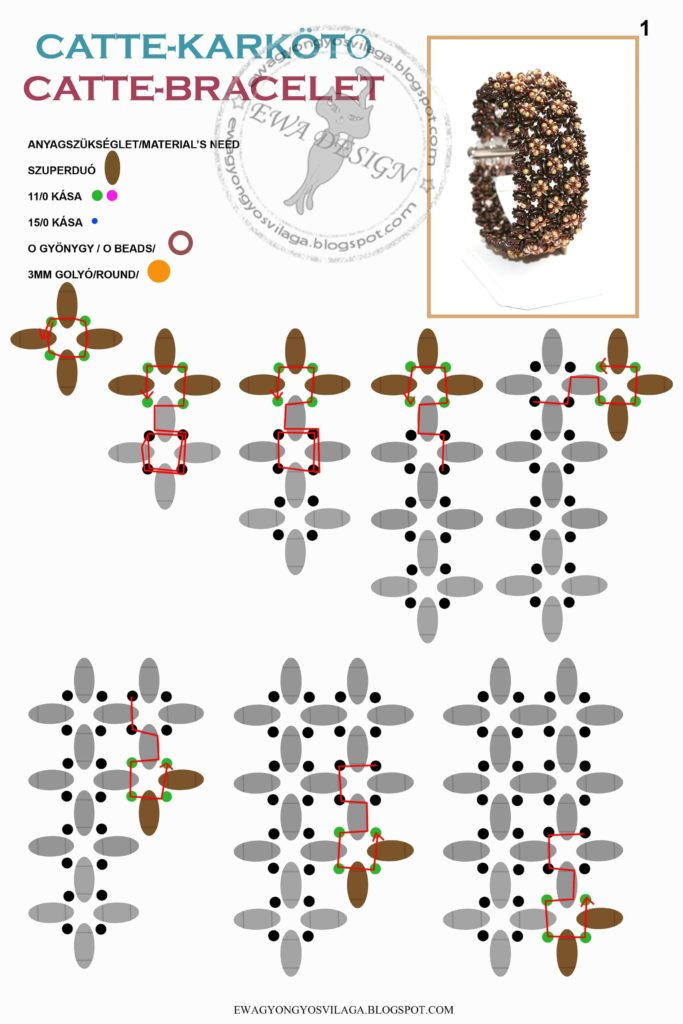 Браслеты из бисера - схемы плетения