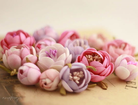 Цветок артишока из фоамирана