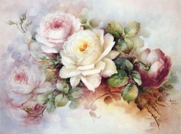 Декупажные карты с цветами