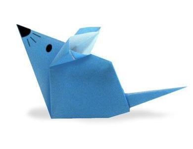 Оригами мышка схемы