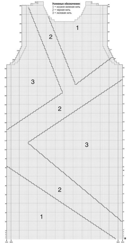 Схема платья В