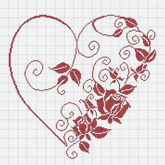 Вышивка крестом ко дню святого Валентина