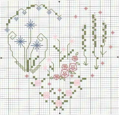 Валентинка схема крестом
