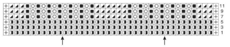 Ажурная шаль: схема