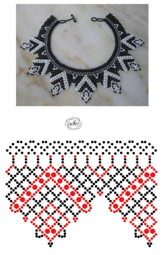 Схемы бисероплетения ожерелья