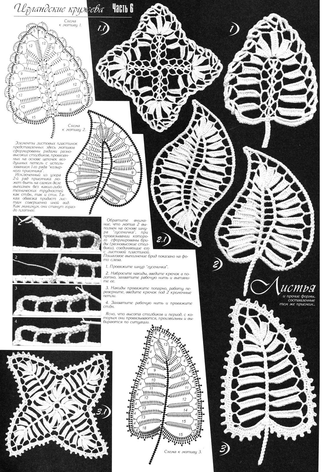 разнообразие листья крючком схемы и картинки баре кухне находятся