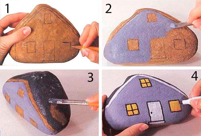 Рисунки на камнях: мастер-класс