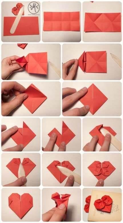 Сердечки из бумаги