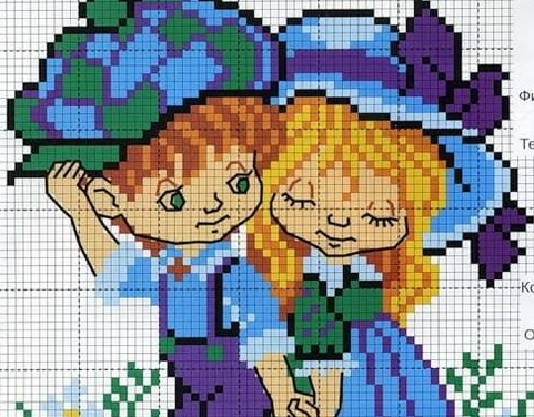 Схемы крестом - Мальчики и Девочки