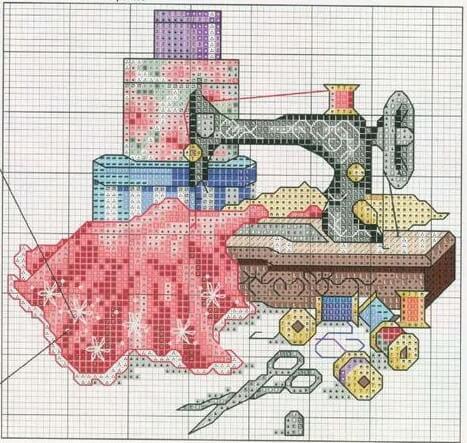 Схемы вышивки крестом на тему: Рукоделие