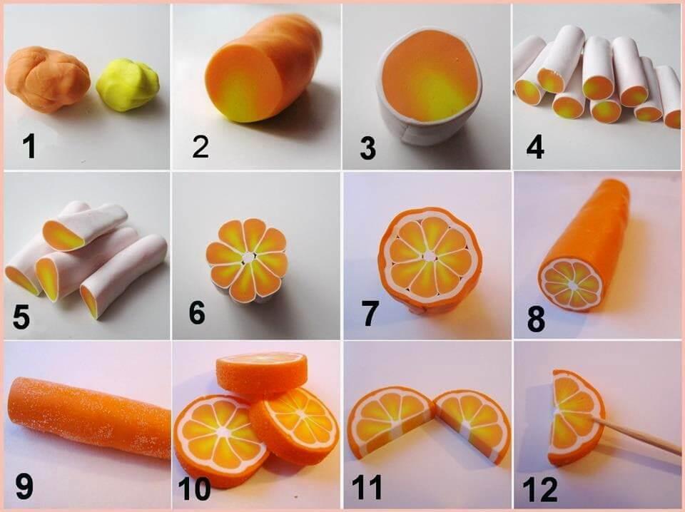Апельсин из полимерной глины - мастер-класс