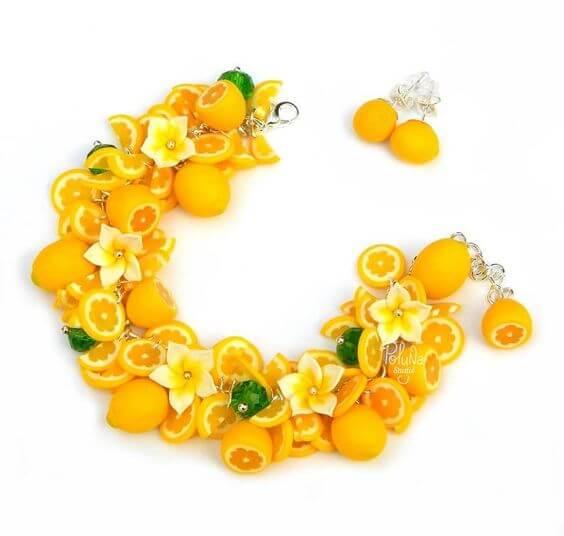 Лимоны из полимерной глины