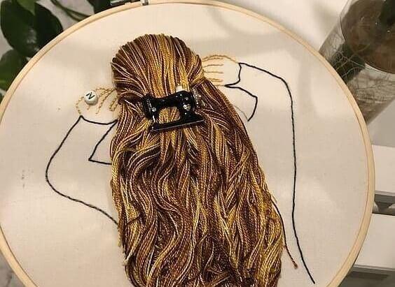 Как вышить волосы