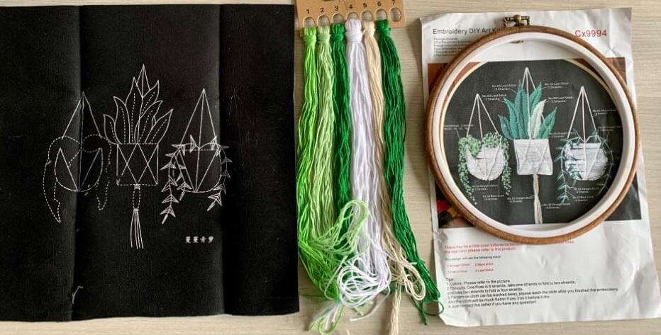 Набор вышивки нитками