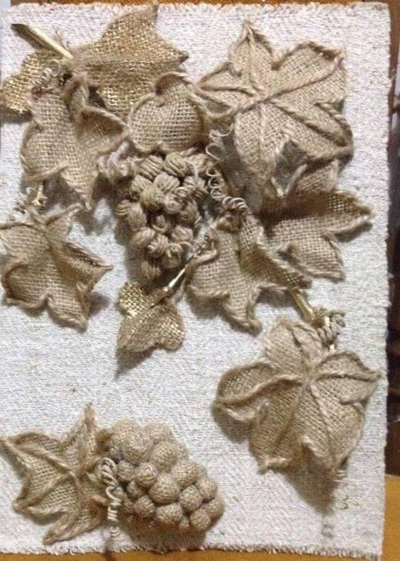 Поделки из джута и мешковины
