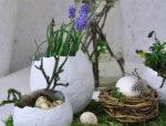 Пасхальній декор. Яйцо из гипса