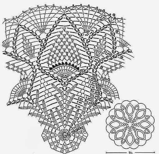 зонтик крючком - схема