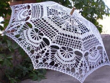 Зонтик вязанный крючком