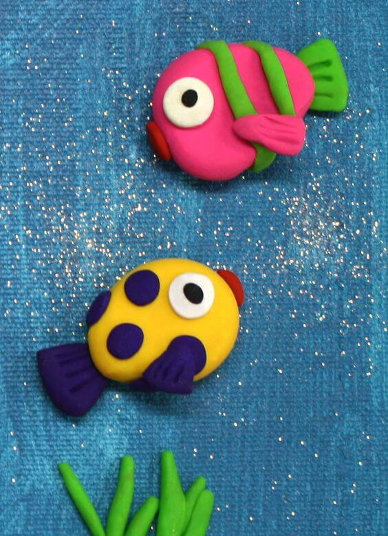 Поделки из пластилина - Рыбки