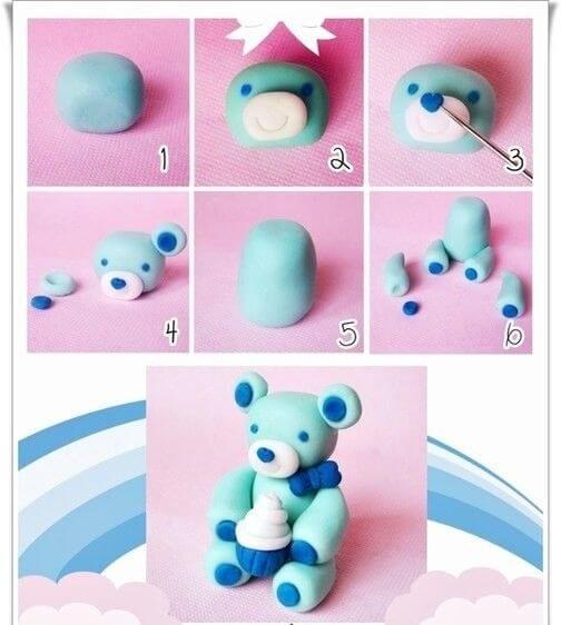Поделки из пластилина - Мишка