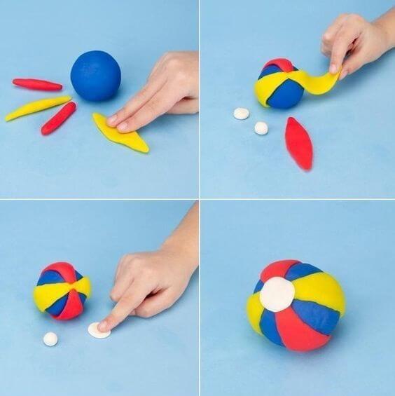 Поделки из пластилина - Мяч