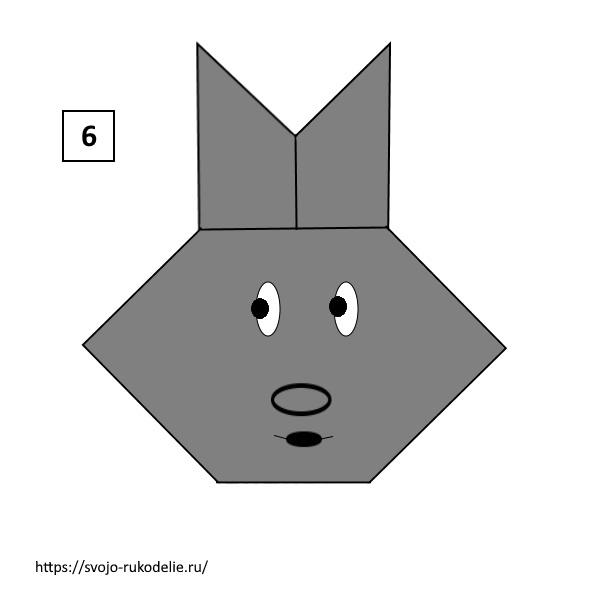 Оригами. Заяц из бумаги