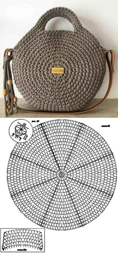 Летние сумки крючком из трикотажной пряжи