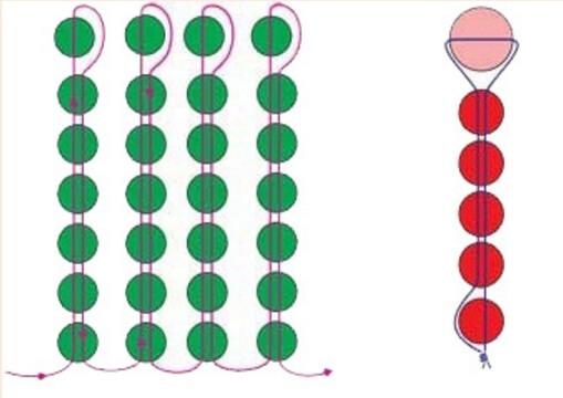 Схема игольчатого плетения - чертоплох