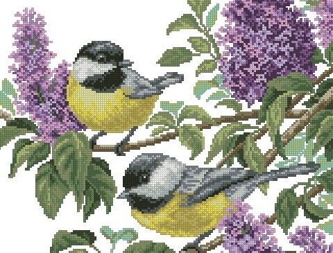 Вышивка крестом птицы схемы