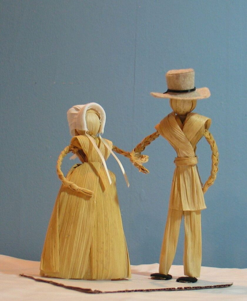 Кукла из кукурузных листьев
