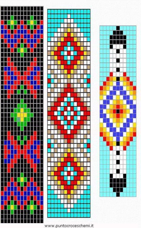 Схемы бисеплетения браслетов на станке