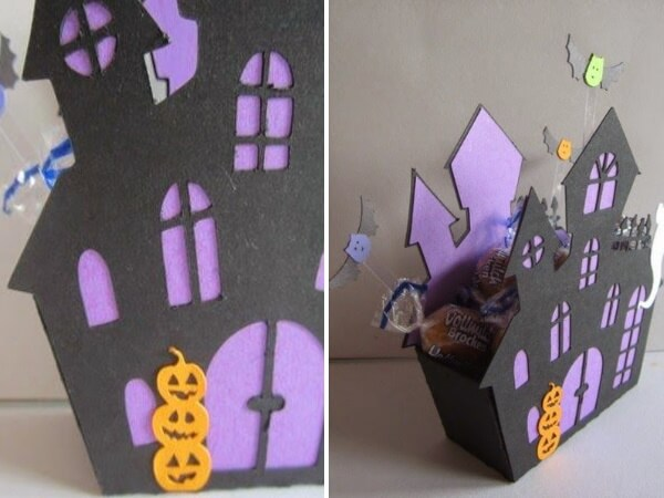 Корзинка для конфет на Хеллоуин