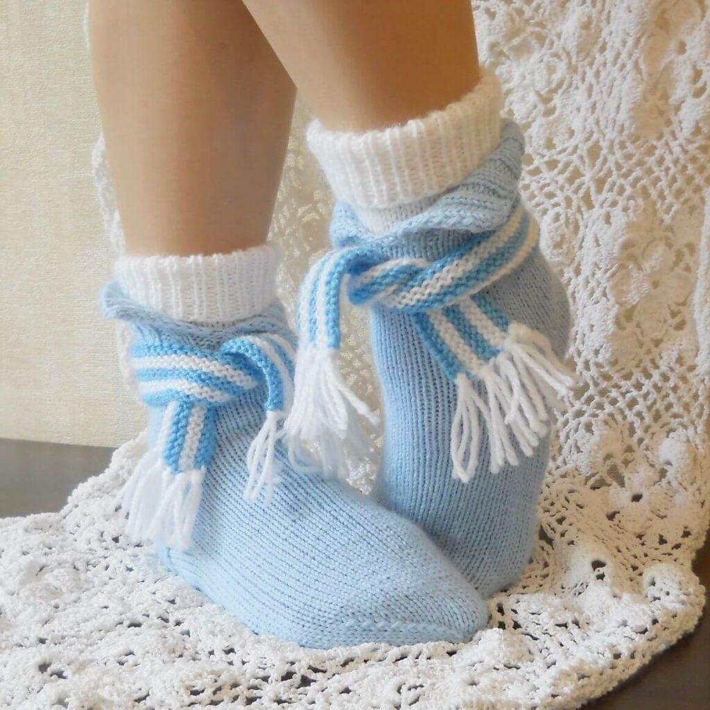 Красивые вязаные носки