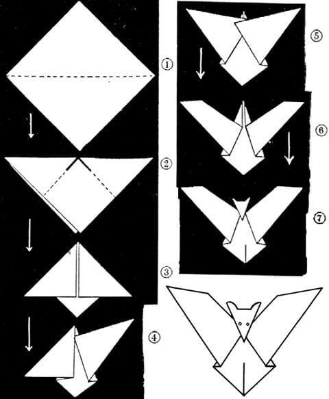 Оригами на Хеллоуин