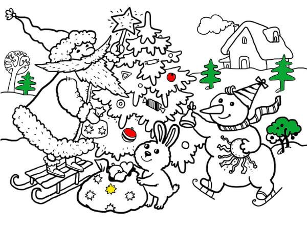 Новогодние раскраски