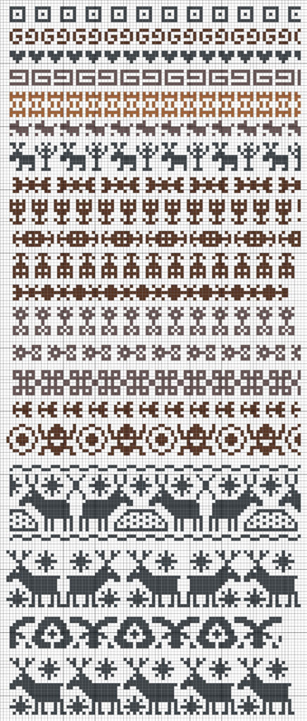 Норвежские жаккардовые узоры спицами