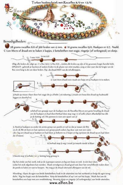 Схемы плетения жгута из бисера и бусин
