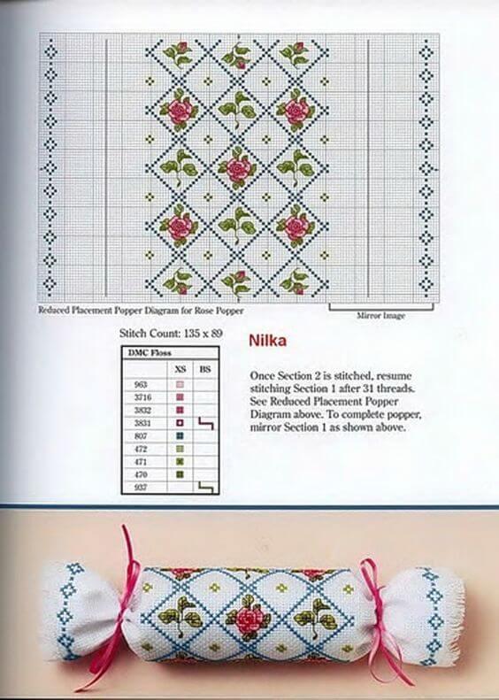 Вышивка крестиком. Елочные игрушки