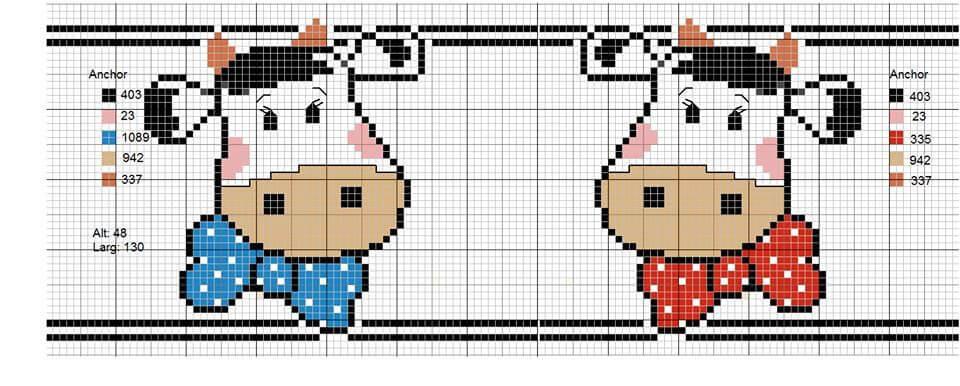 Схема вышивки крестом Быка
