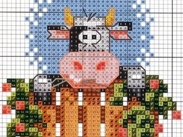 Схемы вышивки крестом быка