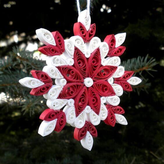 Снежинки из бумаги в технике квиллинг