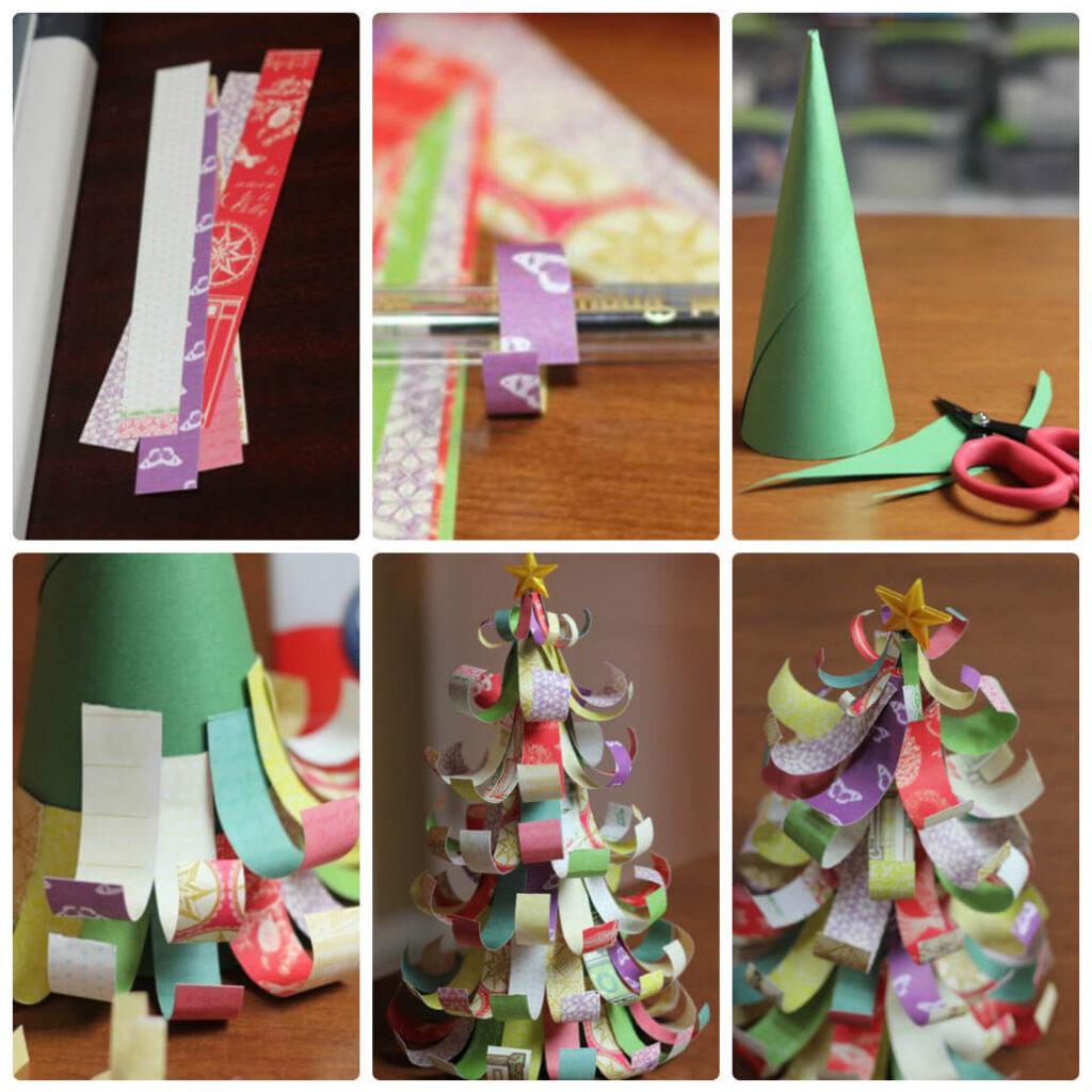 Новогодние поделки из бумаги