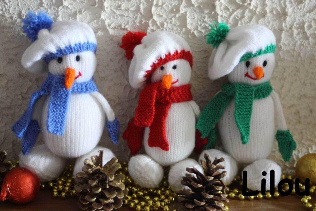 Вязаный Снеговик своими руками
