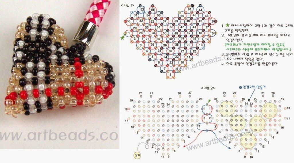 Сердечки из бисера ко Дню Святого Валентина