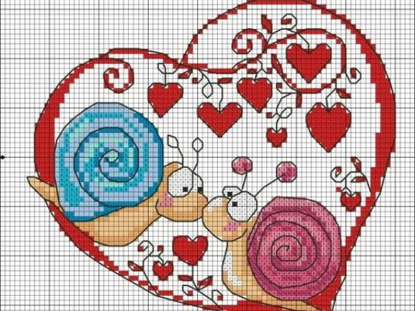 схемы крестом ко дню влюбленных