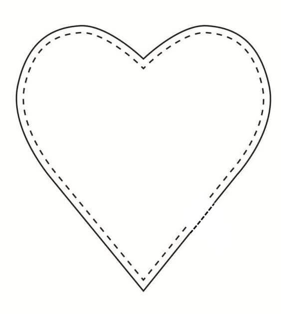 Выкройки текстильного сердечка