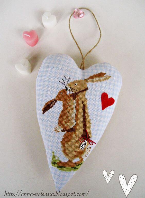 Текстильное сердечко ко Дню Святого Валентина
