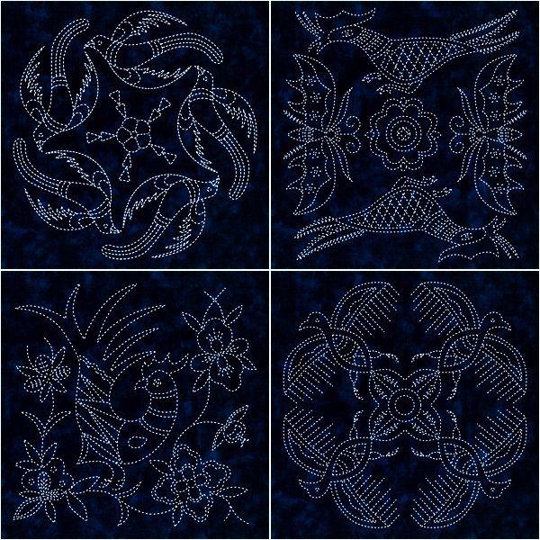 Японская вышивка сашико - схемы