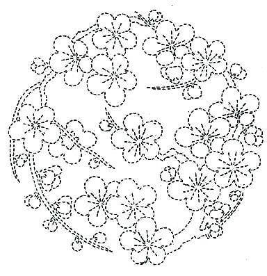 Схема вышивки в технике сашико